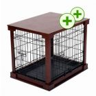 Dog Cage with Wooden Frame - 84 x 56 x 59 cm (L x W x H)