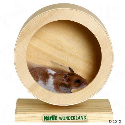Roue en bois Wonderland Bogie Wheel pour rongeur - 20 cm de diametre, H 22 cm