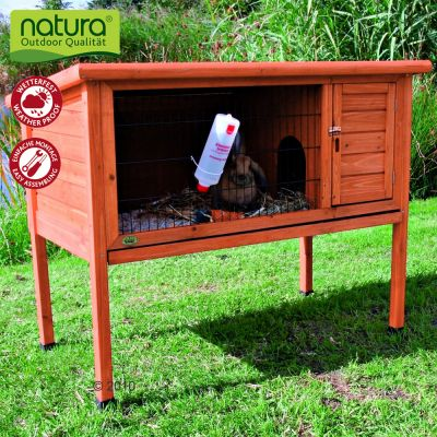 Trixie Natura Single Rabbit Hutch - Wood Ramp (50 cm)