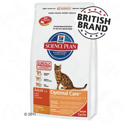 Hill's Science Plan Feline Adult Optimal Care Chicken - Economy Pack: 2 x 15 kg