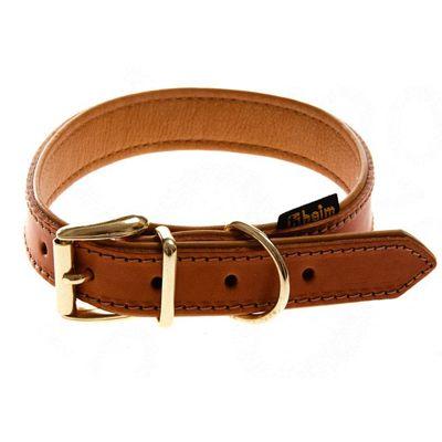 Heim Buffalo Dog Collar - Cognac - Size 60