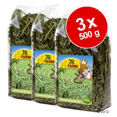 Lot JR Farm Avoine verte pour rongeur - 3 x 500 g