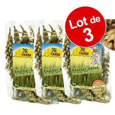 Lot JR Farm a‰pis de cereales pour rongeur - 3 x 100 g (environ 150 epis)