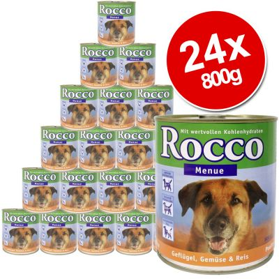 Rocco Menu Saver Pack 24 x 800g - Poultry, Vegetables & Rice