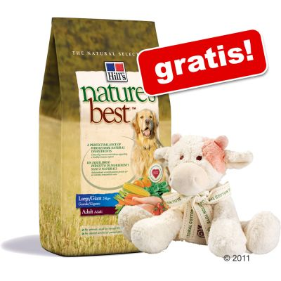12 kg Hill´s Nature´s Best + Hundespielzeug gratis! – Adult Large / Giant