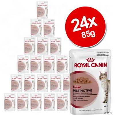 Royal Canin Wet Cat Food Saver Pack 24 x 85g - Adult Ultra Light in Gravy