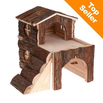 Maison a deux etages pour rongeur - L 15 x l 15 x H 16 cm (pour hamster)