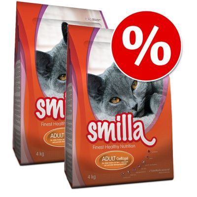 Smilla Dry Cat Food Economy Packs 2 x 4kg - Adult Poultry
