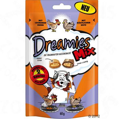Dreamies Mix Cat Treats 60g - Saver Pack: 3 x with Salmon & Cheese