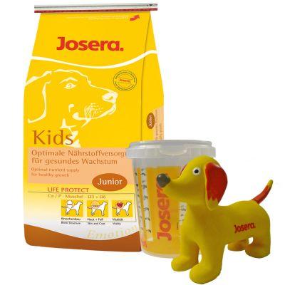 Josera Puppy Set with 2 kg Josera Emotion Kids - 2 kg Kids, measuring cup, squeaker dog toy, information brochure
