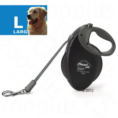Dog Lead flexi Giant Professional - 10m - Black