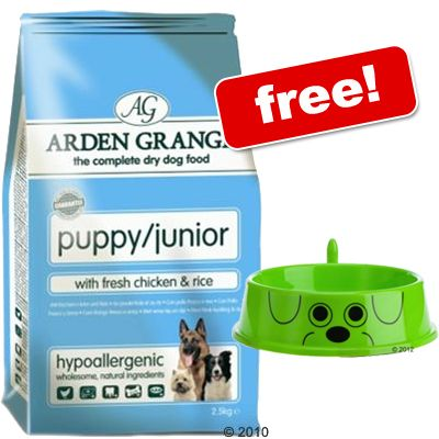 7.5 kg Arden Grange + zooplus Dog Bowl Free! - Puppy/Junior Large Breed Chicken & Rice (7.5 kg)