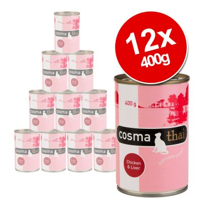 Cosma Thai in Jelly Saver Pack 12 x 400g - Chicken with Tuna