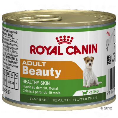 Royal Canin Wet Mini Adult Beauty - Healthy Skin - Saver Pack: 12 x 195g
