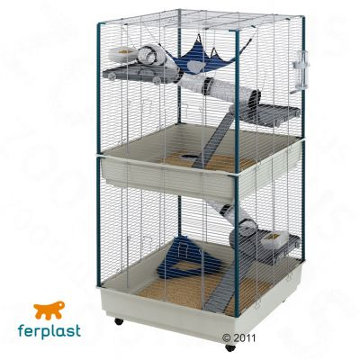 Käfige für Kleintiere - Frettchenkäfig - Ferplast Kleintierkäfig Furet Tower - grau: L 80 x B 75 x H 161 cm