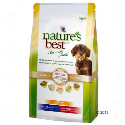 Hill's Nature's Best Mature 7+ Mini/Medium - Chicken - Economy Pack: 2 x 12kg