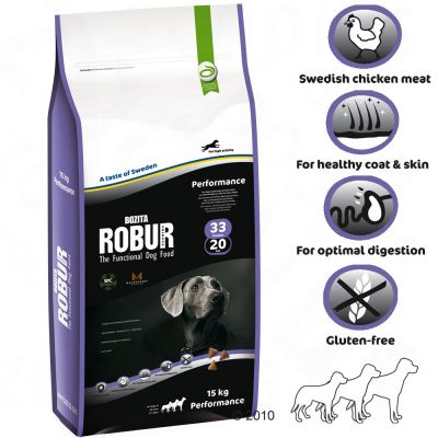 Bozita Robur Performance 33/20 - Economy Pack: 2 x 15 kg