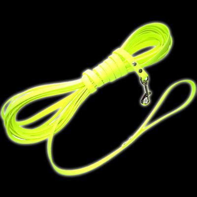 Heim Biothane Long Dog Lead - Fluorescent Yellow - 5m