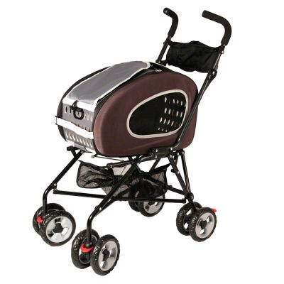 3 in 1 Combo Pet Stroller - brown / grey