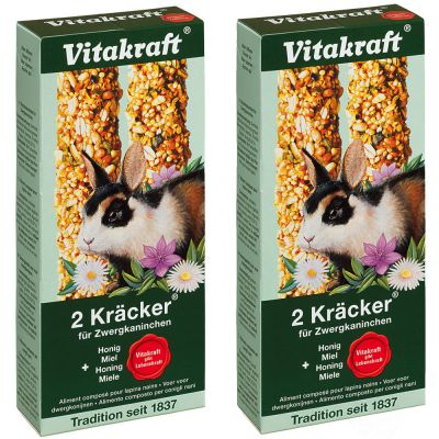 Vitakraft Nostalgia Crackers – Dwarf Rabbits - 2 x 2 crackers