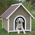 Dog Kennel Trixie Natura with Gabled Roof - Size M: 90 x 95 x 106 cm (L x W x H)