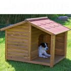 Dog Kennel Trixie Natura Log Cabin with Porch - Size L (2 packages*)