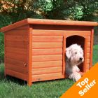 Trixie Natura Flat Roof Dog Kennel - L: 104 x 72 x 68cm (L x W x H)