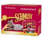 Schmusy Whole Food Flakes 12 x 100 g Trial Pack - 12 x 100 g with 4 flavours