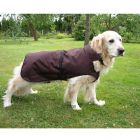 Dog Coat Authentic Brown - 70 cm back length