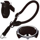 Hunter Training Nylon Collar Freestyle Black - Size: 50 cm