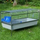 Rabbit - and Guinea Pig Cage R6A - Base Granite Grey