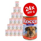 Rocco Classic Value Pack 24 x 400 g - Beef with Reindeer