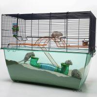 Savic Knaagdierenkooi Habitat XL - - Donkerblauw gaas
