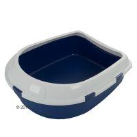 Jumbo kattenbak met rand - - blauw