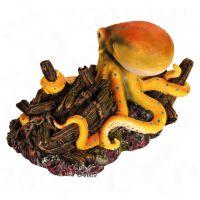 Reuzenoctopus met scheepswrak - - Grootte ca. 20 cm