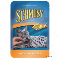 Megapak Schmusy vis 24 x 100 g - - Tonijn & sardientjes