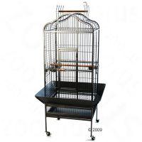 Papegaaienkooi Noble - - onderbak zwart, traliesafstand