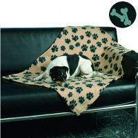 Trixie fleecedeken Beany - - L 100 x B 70 cm (zwart, met