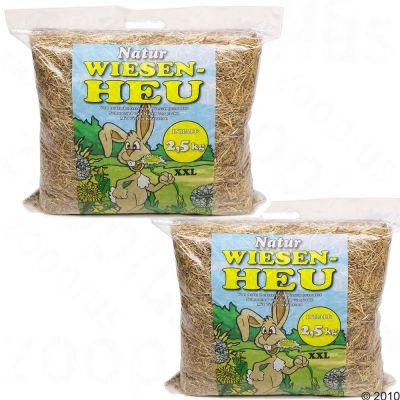 Hansepet Foin de prairie pour rongeur - 2 x 2,5 kg