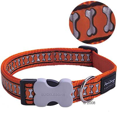 Red Dingo Reflective Halsband Orange – Gr.L 40 – 60 cm Halsumfang, 25 mm breit