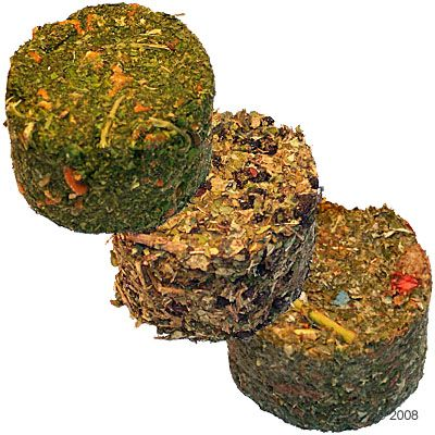 Steppenlemming´s Round Small Pet Bites - 3 x 15 g Raspberry Leaves & Strawberry