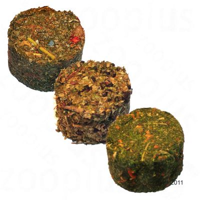 Steppenlemming's Round Small Pet Bites - 3 x 15 g Hazel Leaves & Elderberry