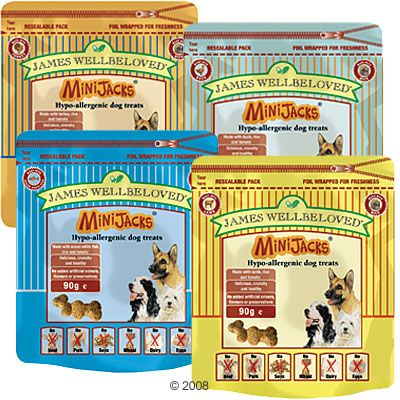 James Wellbeloved Minijacks Hypo-allergenic Dog Treats - Saver Pack: Fish 3 x 90 g
