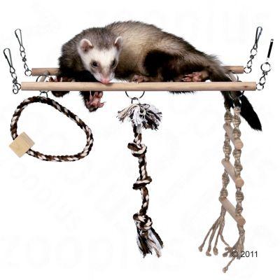 Pont de jeu suspendu Grand pour furet, rongeur et oiseau - L 35 x l 15 cm