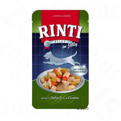 Rinti Filet in Jelly Pouch Value Pack 18 x 150 g - Chicken & Vegetables