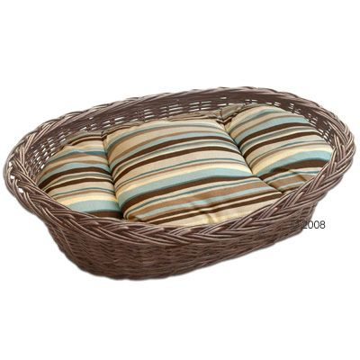 Dog Basket with Cuddly Pillow - Brown - approx. 110 x 95 x 30 cm (L x W x H)