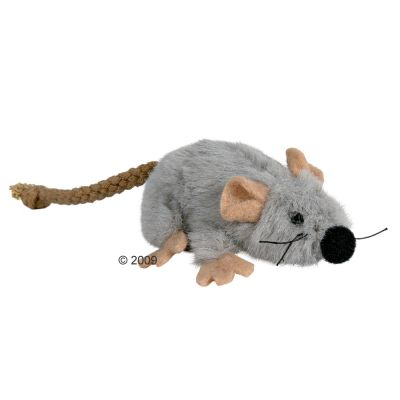 Trixie Cat Toy Plush Mouse with Catnip - 3 pack