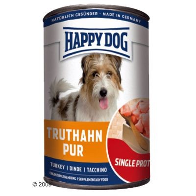 Happy Dog Single Protein 6 x 400 g – Truthahn Pur