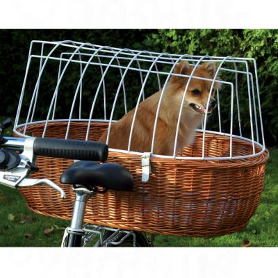 Pet Bicycle Basket XXL with Protective Wire Protective Basket Cover