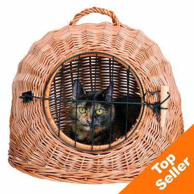 Trixie Wicker Cat Basket - 50 x 36 x 42 cm (L x W x H)